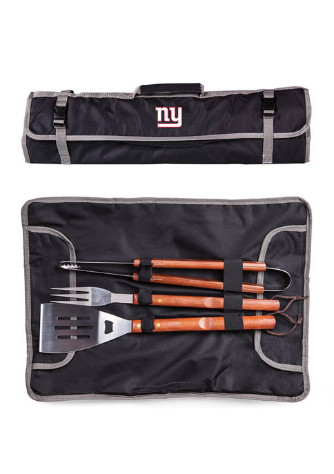 NFL New York Giants 3 Piece BBQ Tote & Grill Set
