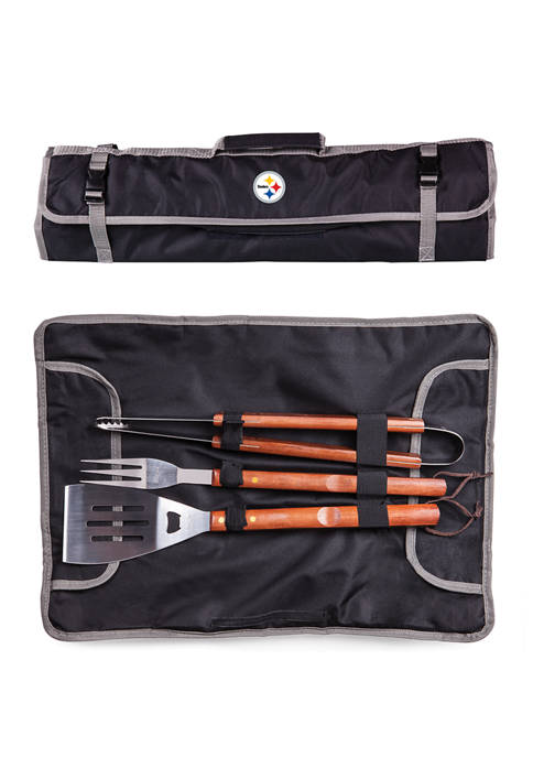 NFL Pittsburgh Steelers 3 Piece BBQ Tote & Grill Set
