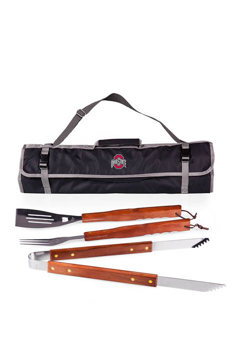NCAA Ohio State Buckeyes 3-Piece BBQ Tote & Grill Set