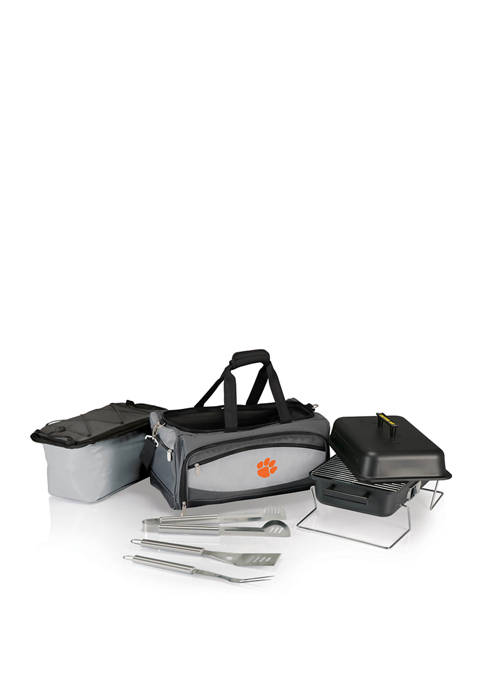 NCAA Clemson Tigers Buccaneer Portable Charcoal Grill & Cooler Tote