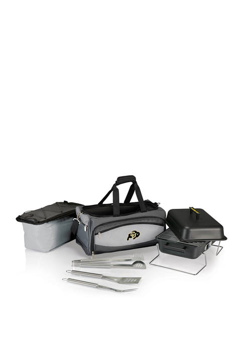 NCAA Colorado Buffaloes Buccaneer Portable Charcoal Grill and Cooler Tote