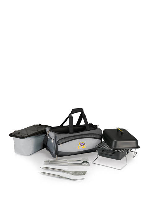 NCAA LSU Tigers Buccaneer Portable Charcoal Grill & Cooler Tote