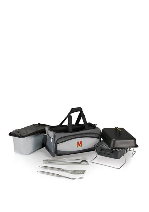 NCAA Maryland Terrapins Buccaneer Portable Charcoal Grill & Cooler Tote