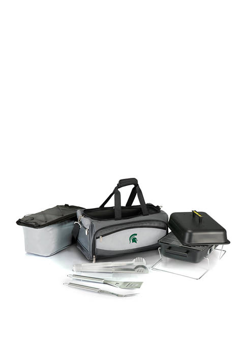 NCAA Michigan State Spartans Buccaneer Portable Charcoal Grill and Cooler Tote