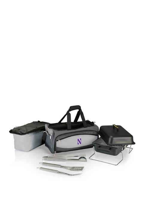 NCAA Northwestern Wildcats Buccaneer Portable Charcoal Grill & Cooler Tote