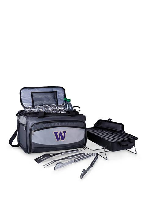 NCAA Washington Huskies Buccaneer Portable Charcoal Grill & Cooler Tote