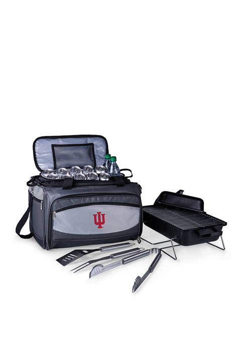 NCAA Indiana Hoosiers Buccaneer Portable Charcoal Grill & Cooler Tote