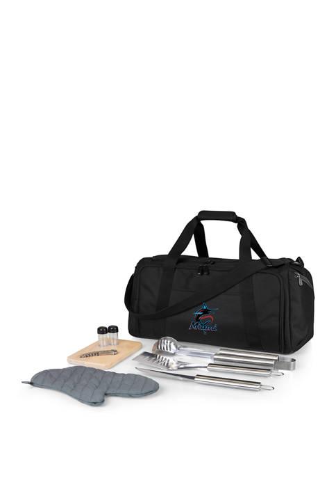 MLB Miami Marlins BBQ Kit Grill Set & Cooler
