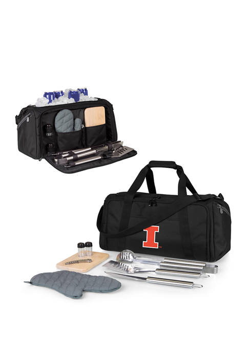 NCAA Illinois Fighting Illini BBQ Kit Grill Set & Cooler