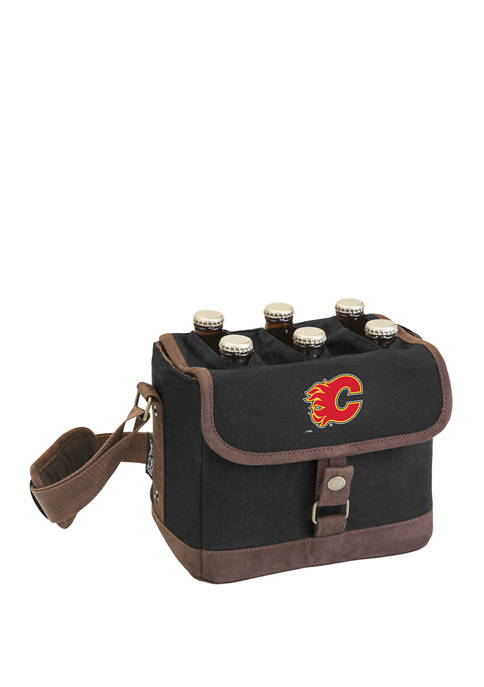NHL Calgary Flames Beer Caddy Cooler Tote with Opener