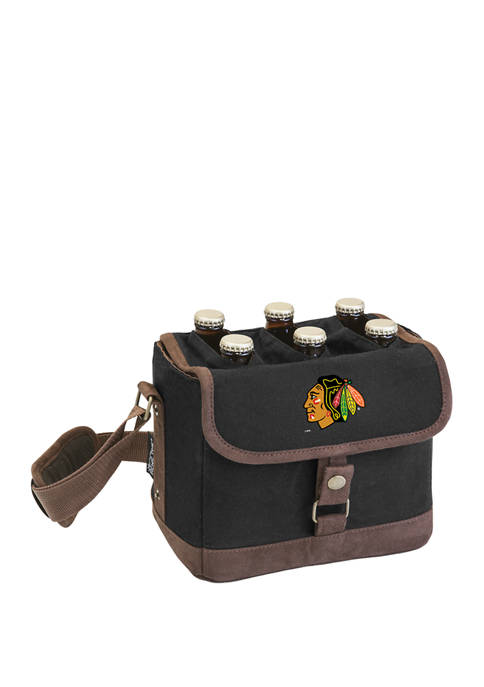 NHL Chicago Blackhawks Beer Caddy Cooler Tote with Opener