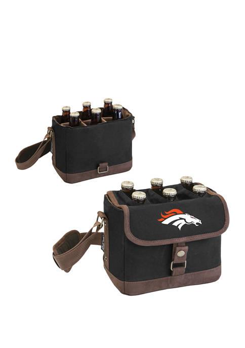 NFL Denver Broncos Beer Caddy Cooler Tote with Opener