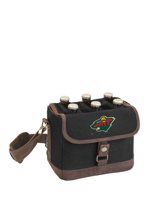 NHL Minnesota Wild Beer Caddy Cooler Tote with Opener