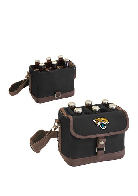 NFL Jacksonville Jaguars Beer Caddy Cooler Tote with Opener