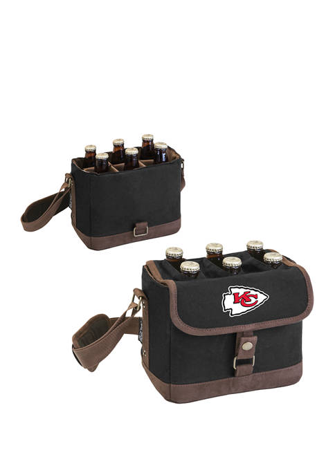 NFL Kansas City Chiefs Beer Caddy Cooler Tote with Opener