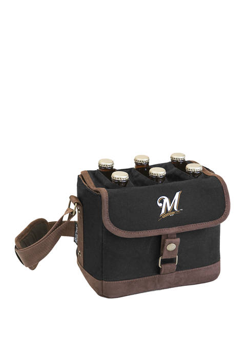 MLB Milwaukee Brewers Beer Caddy Cooler Tote with Opener