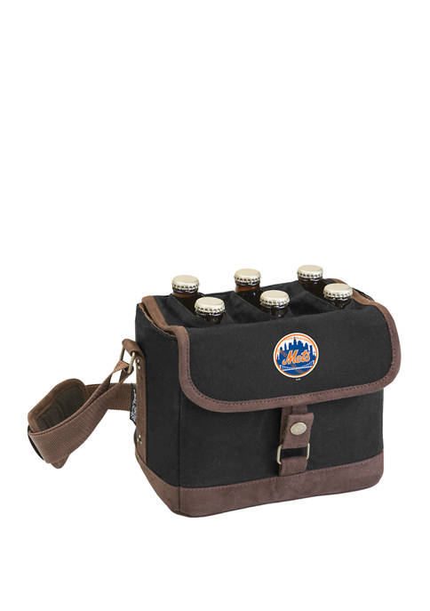 MLB New York Mets Beer Caddy Cooler Tote with Opener
