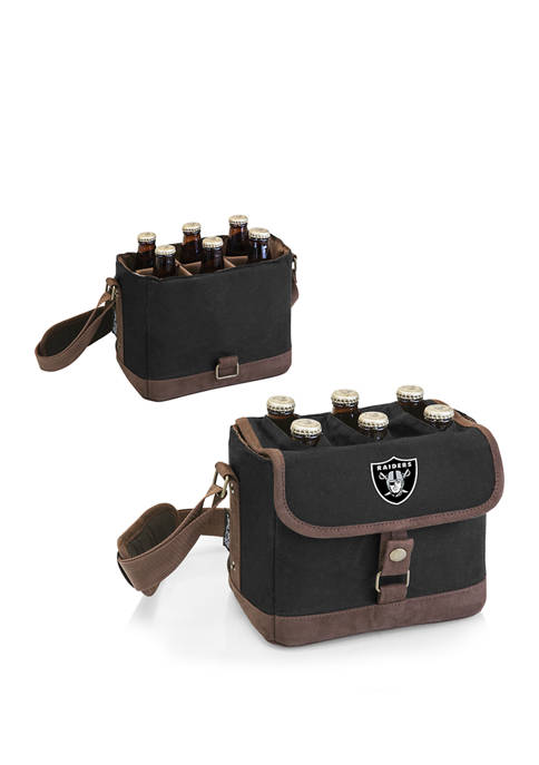 NFL Oakland Raiders Beer Caddy Cooler Tote with Opener