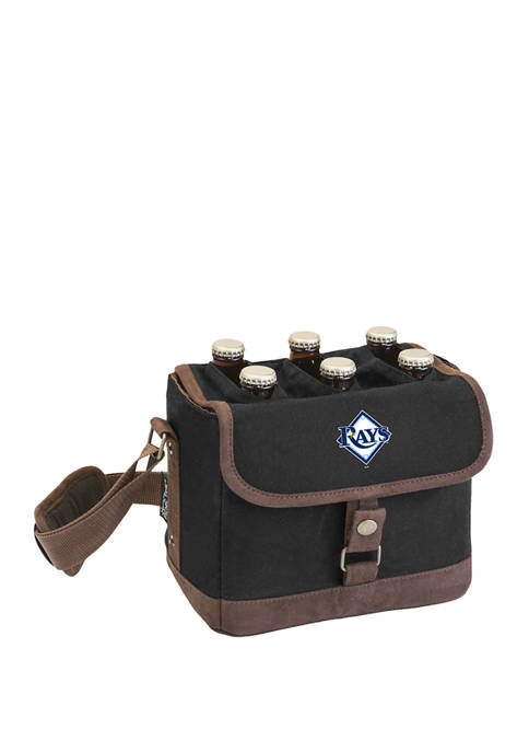 MLB Tampa Bay Rays Beer Caddy Cooler Tote with Opener