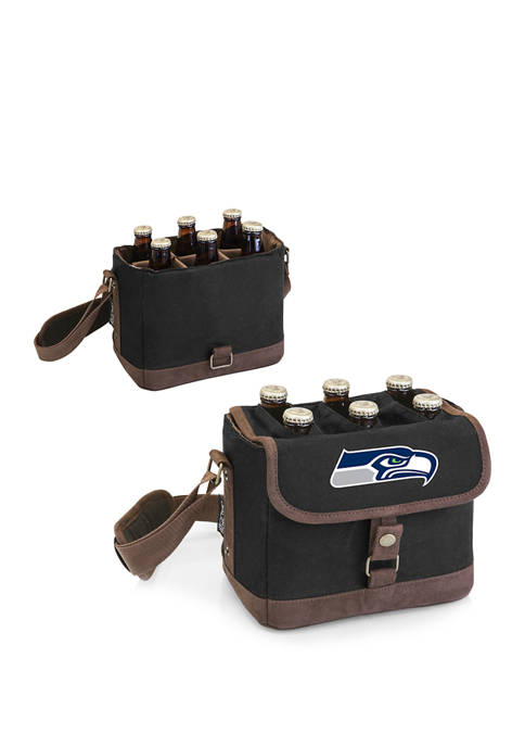 NFL Seattle Seahawks Beer Caddy Cooler Tote with Opener