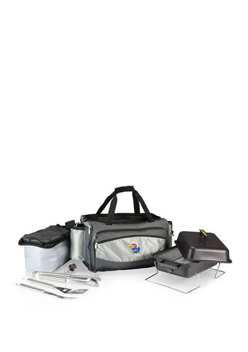 NCAA Kansas Jayhawks Vulcan Portable Propane Grill & Cooler Tote