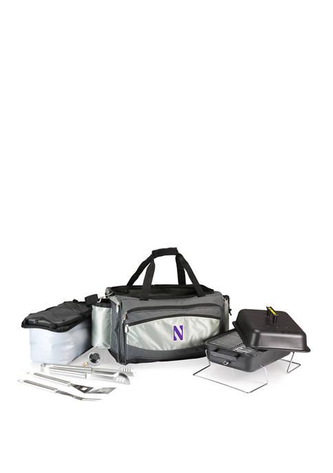 NCAA Northwestern Wildcats Vulcan Portable Propane Grill & Cooler Tote
