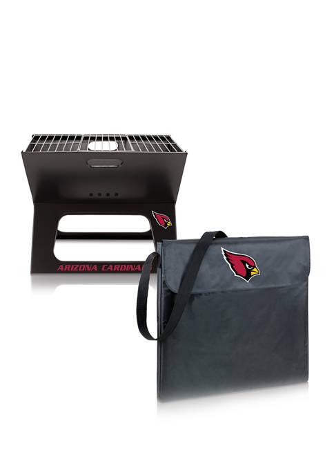 NFL Arizona Cardinals X-Grill Portable Charcoal BBQ Grill