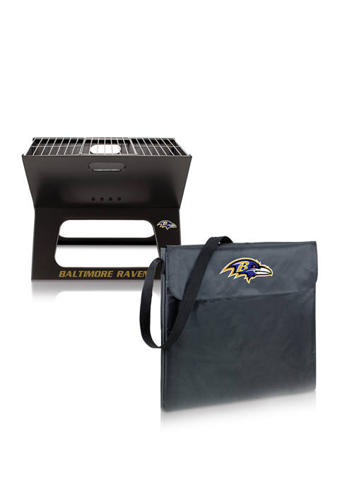 NFL Baltimore Ravens X-Grill Portable Charcoal BBQ Grill