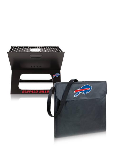 NFL Buffalo Bills X-Grill Portable Charcoal BBQ Grill