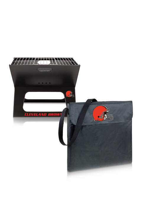 NFL Cleveland Browns X-Grill Portable Charcoal BBQ Grill