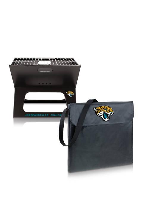 NFL Jacksonville Jaguars X-Grill Portable Charcoal BBQ Grill