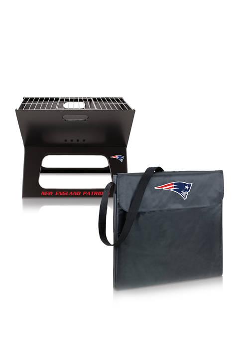 NFL New England Patriots X-Grill Portable Charcoal BBQ Grill