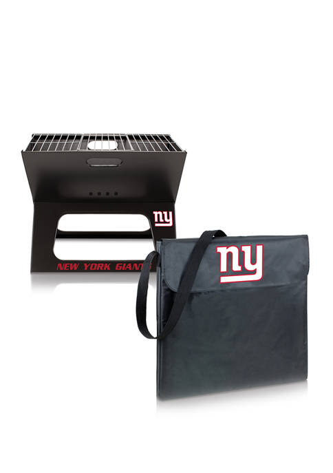 NFL New York Giants X-Grill Portable Charcoal BBQ Grill