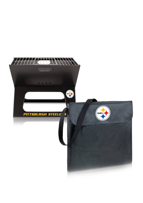 NFL Pittsburgh Steelers X-Grill Portable Charcoal BBQ Grill