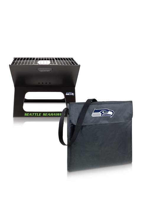 NFL Seattle Seahawks X-Grill Portable Charcoal BBQ Grill
