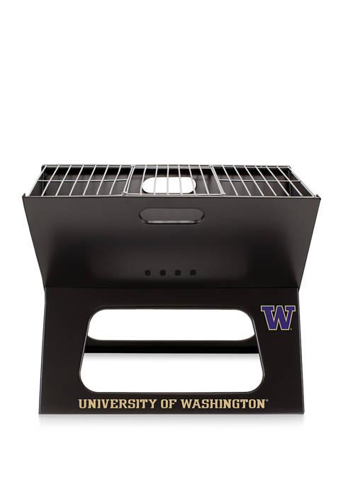 NCAA Washington Huskies X-Grill Portable Charcoal BBQ Grill