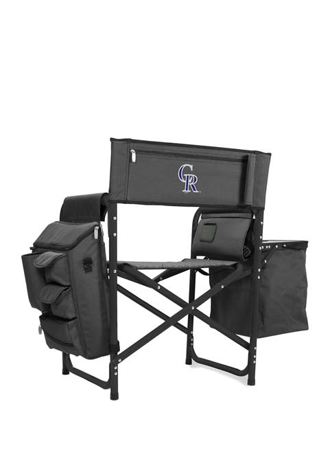 MLB Colorado Rockies Fusion Backpack Chair with Cooler