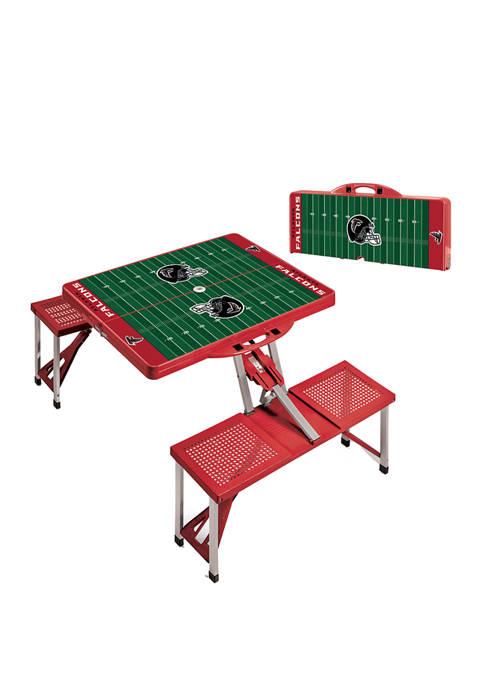 NFL Atlanta Falcons Picnic Table Portable Folding Table with Seats