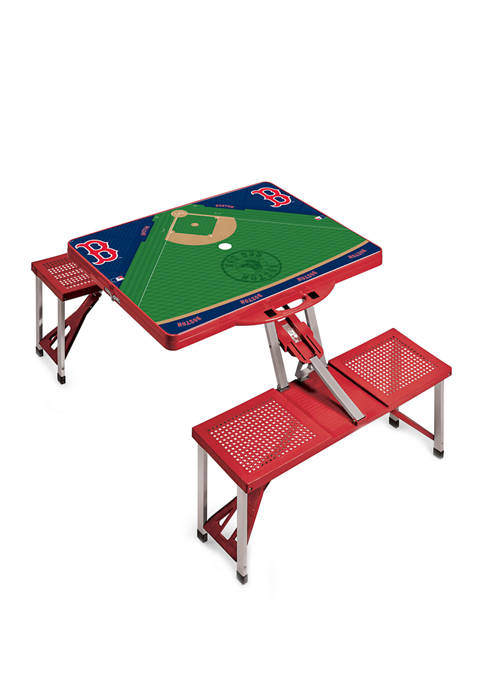 MLB Boston Red Sox Picnic Table Portable Folding Table with Seats