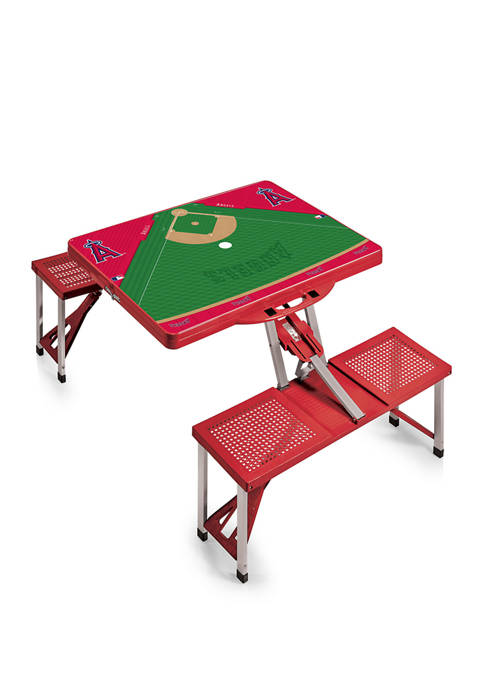 MLB Los Angeles Angels Picnic Table Portable Folding Table with Seats