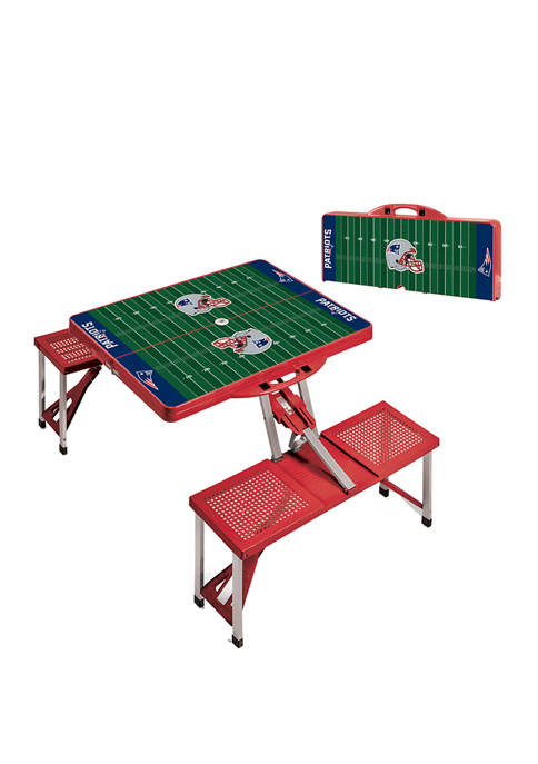 NFL New England Patriots Picnic Table Portable Folding Table with Seats