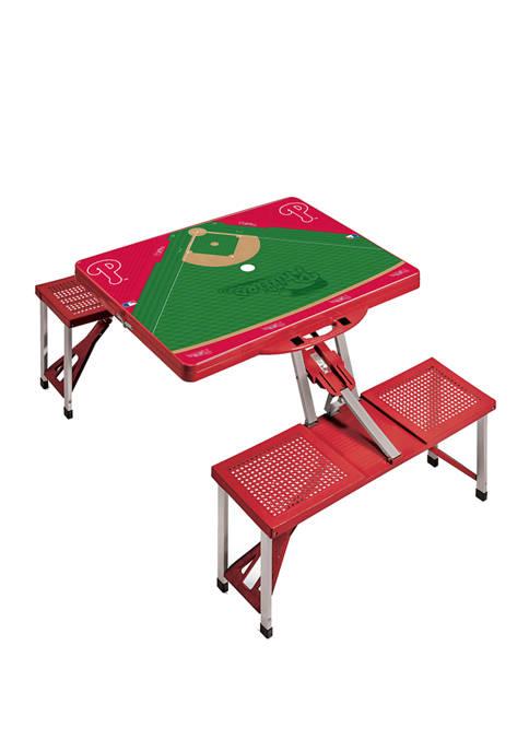 MLB Philadelphia Phillies Picnic Table Portable Folding Table with Seats