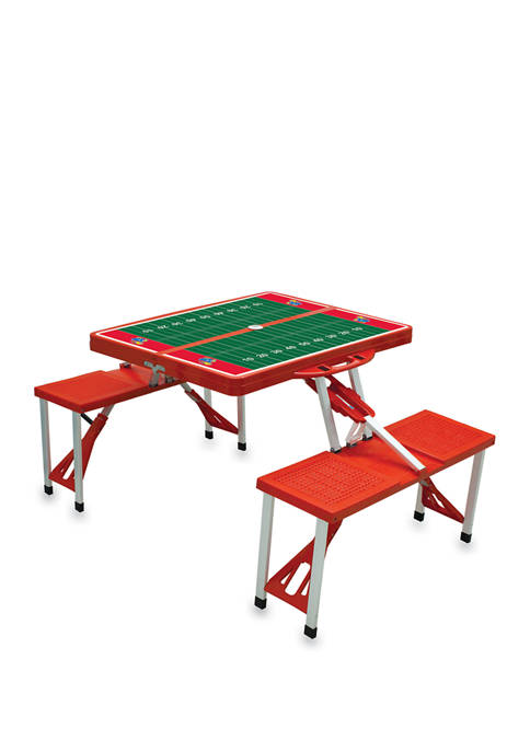 NCAA Kansas Jayhawks Picnic Table Portable Folding Table with Seats