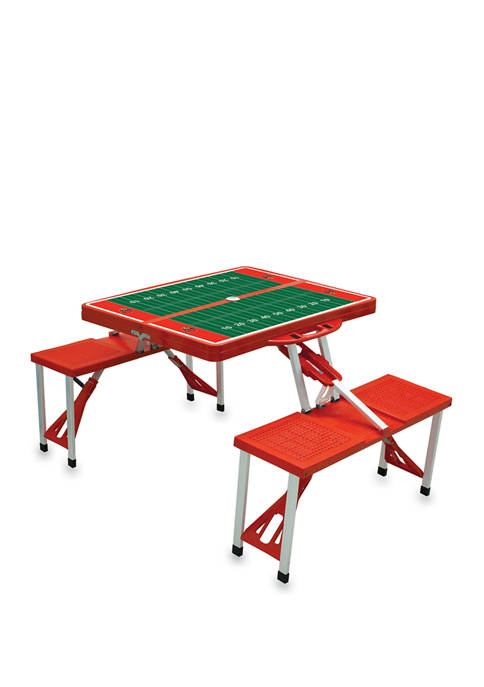 NCAA Louisville Cardinals Picnic Table Portable Folding Table with Seats