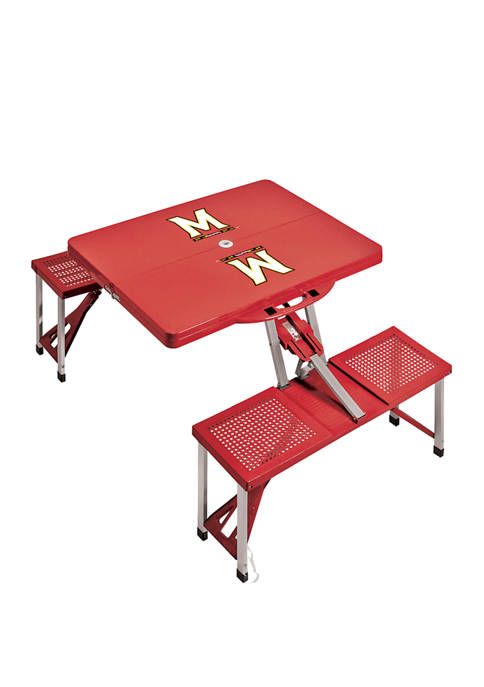 NCAA Maryland Terrapins Picnic Table Portable Folding Table with Seats