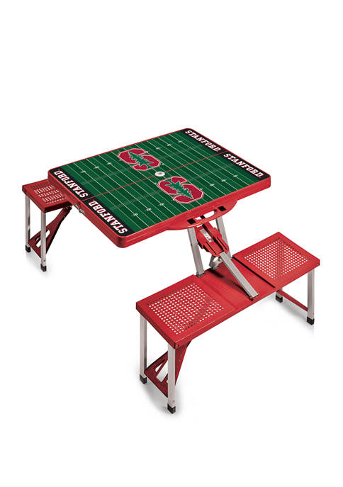 NCAA Stanford Cardinal Picnic Table Portable Folding Table with Seats