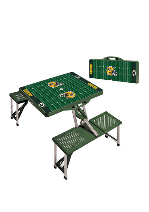 NFL Green Bay Packers Picnic Table Portable Folding Table with Seats