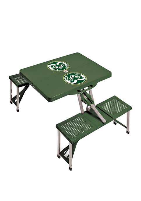 NCAA Colorado State Rams Picnic Table Portable Folding Table with Seats