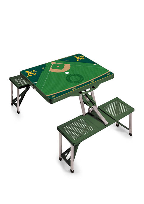 MLB Oakland Athletics Picnic Table Portable Folding Table with Seats