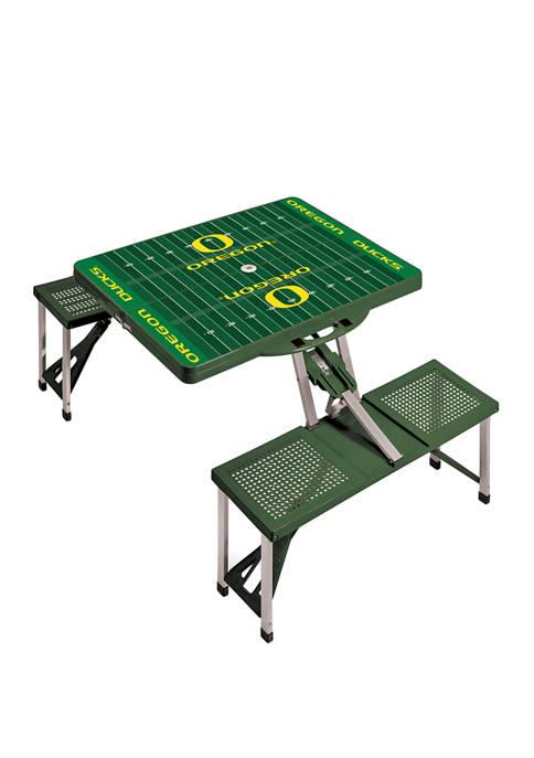 NCAA Oregon Ducks Picnic Table Portable Folding Table with Seats